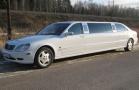 Белый лимузин Mercedes Pullman