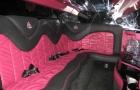 салон красного лимузина Крайслер 300с